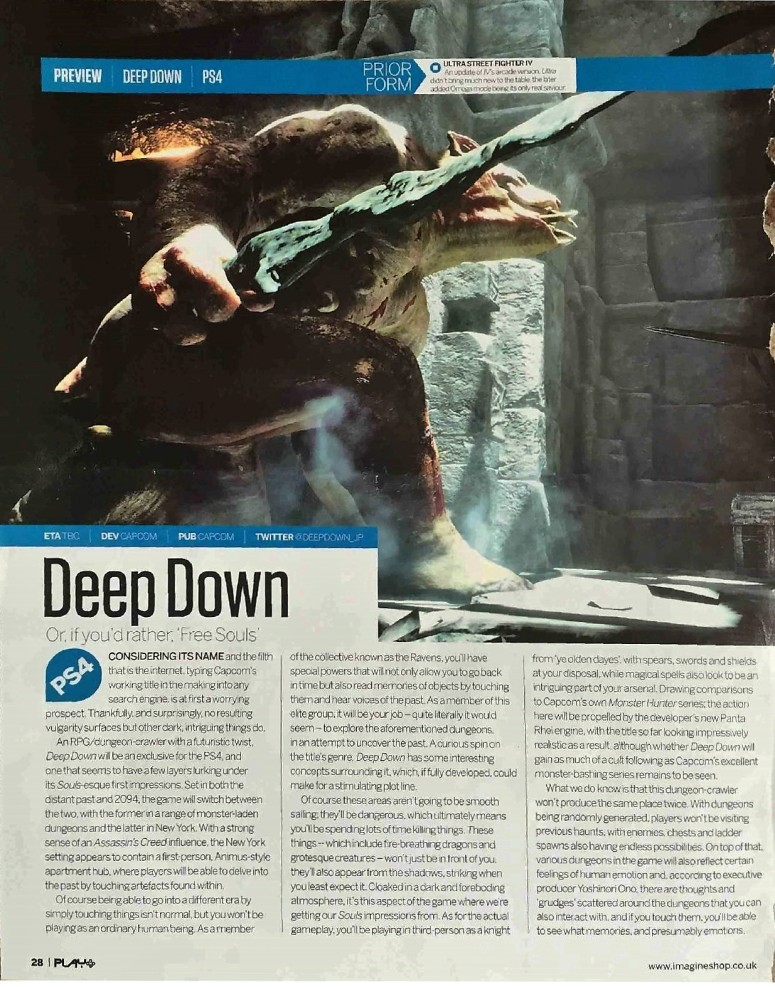 Deep Down page 1