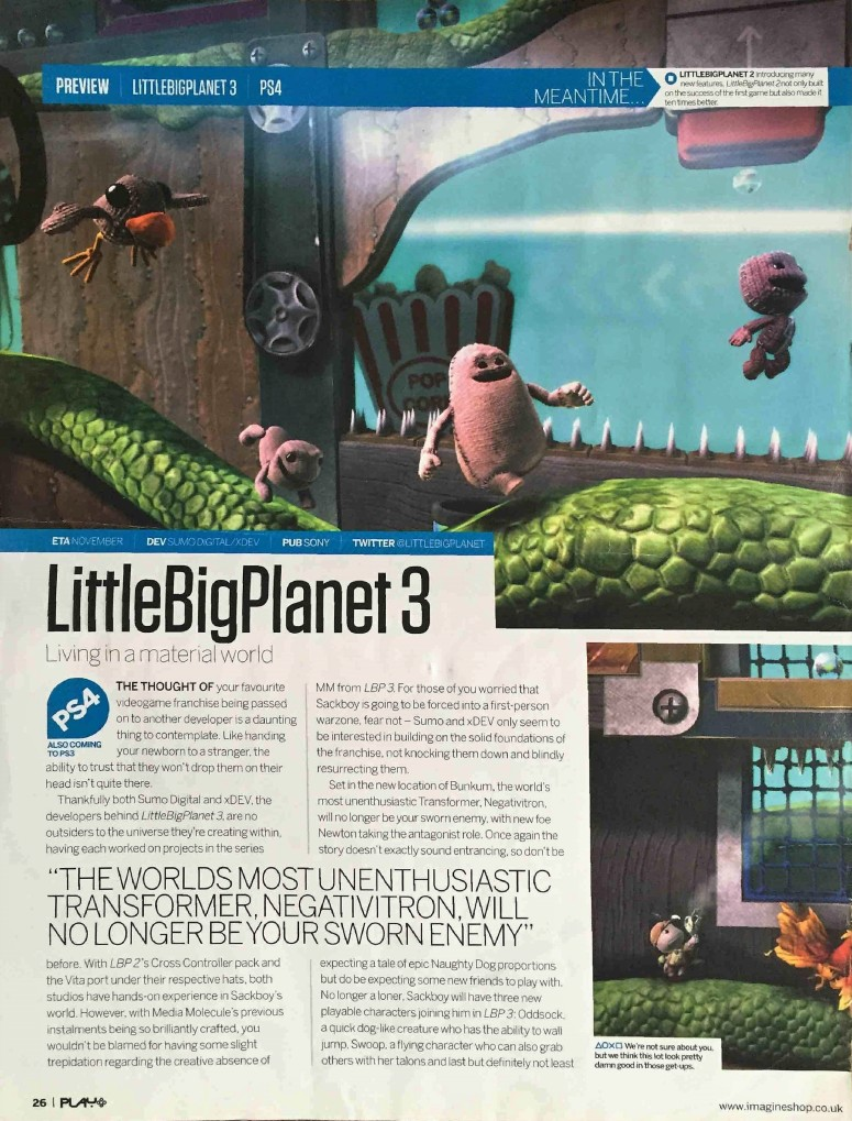 Little Big Planet 3 page 1