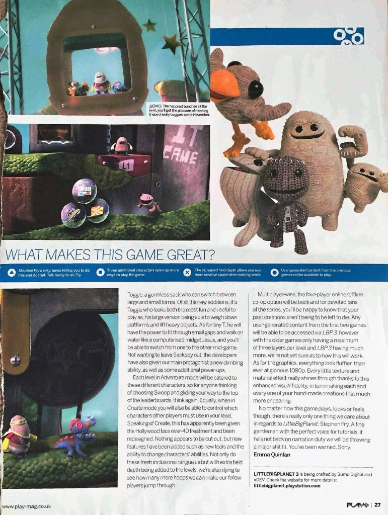 Little Big Planet 3 page 2